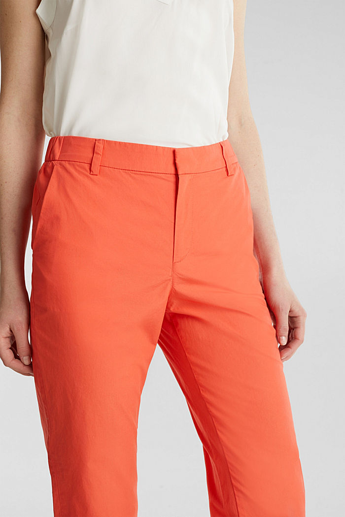 Papertouch-Chino, Bio-Baumwolle, CORAL, detail image number 2