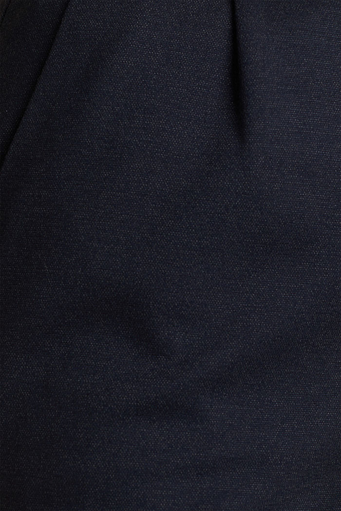 Melange trousers with paper bag waistband, NAVY, detail image number 4
