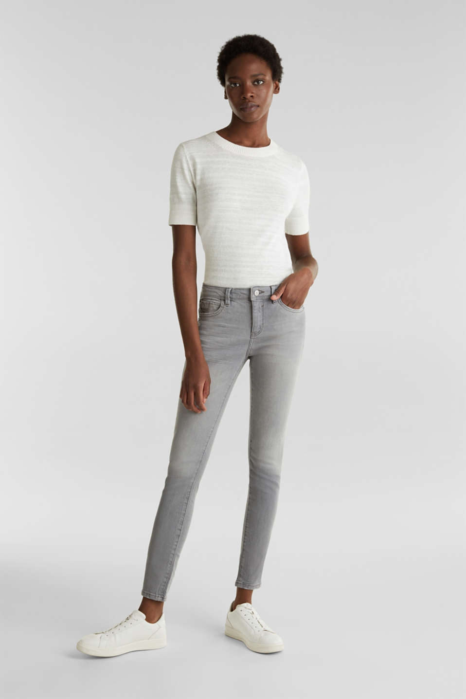 Esprit - Ankle-length jeans with organic cotton