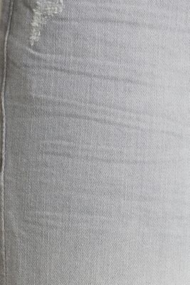 Ankle-length jeans with organic cotton, GREY LIGHT WASH, detail