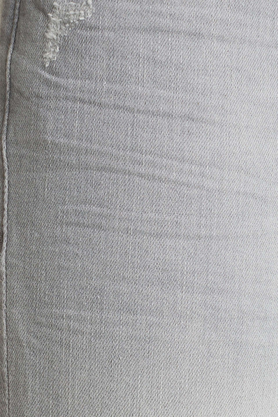Ankle-length jeans with organic cotton, GREY LIGHT WASH, detail image number 3