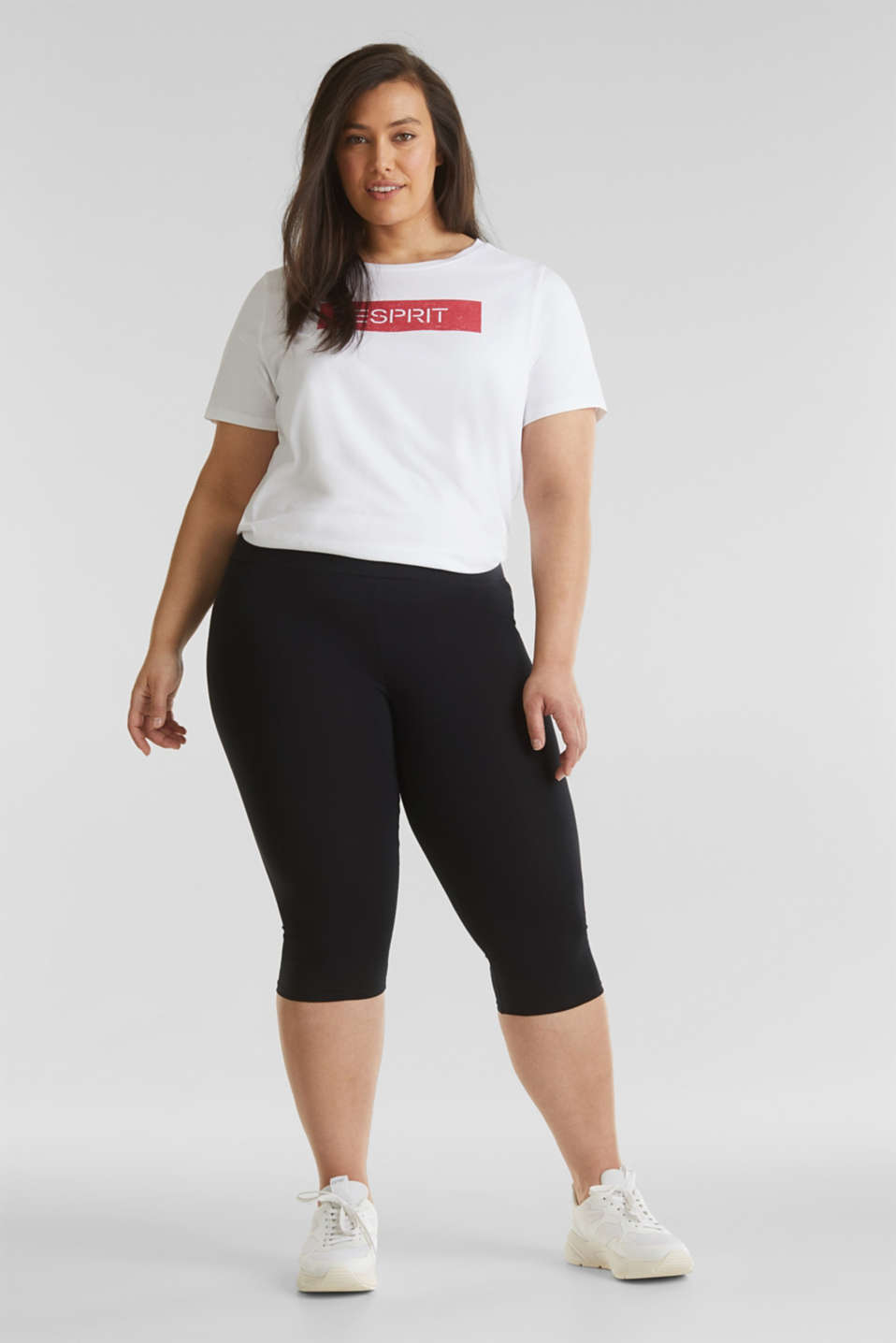 CURVY leggings containing organic cotton, BLACK, detail image number 0