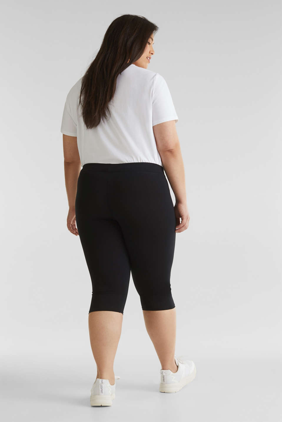 CURVY leggings containing organic cotton, BLACK, detail image number 2