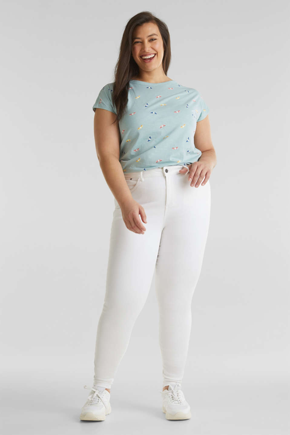 Esprit - CURVY shaping trousers containing organic cotton