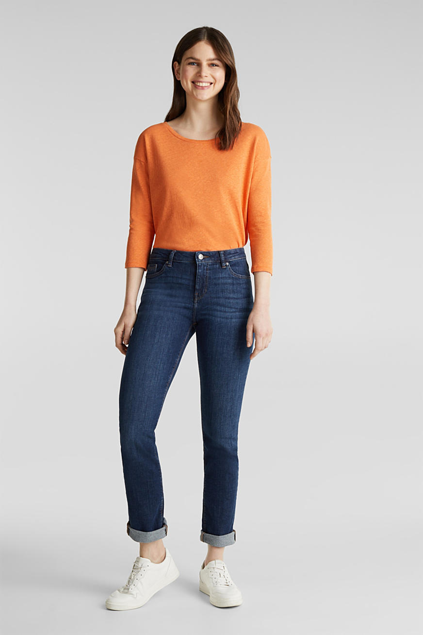 Basic-Jeans mit Organic Cotton