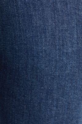 Basic jeans with organic cotton, BLUE DARK WASH, detail