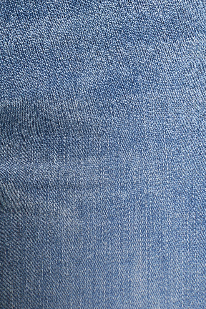 Knöchellange Jeans mit Stickerei, BLUE MEDIUM WASHED, detail image number 4