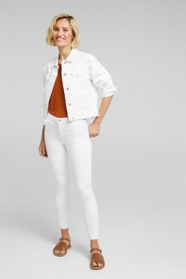 Jeans with embroidered hems, WHITE, detail
