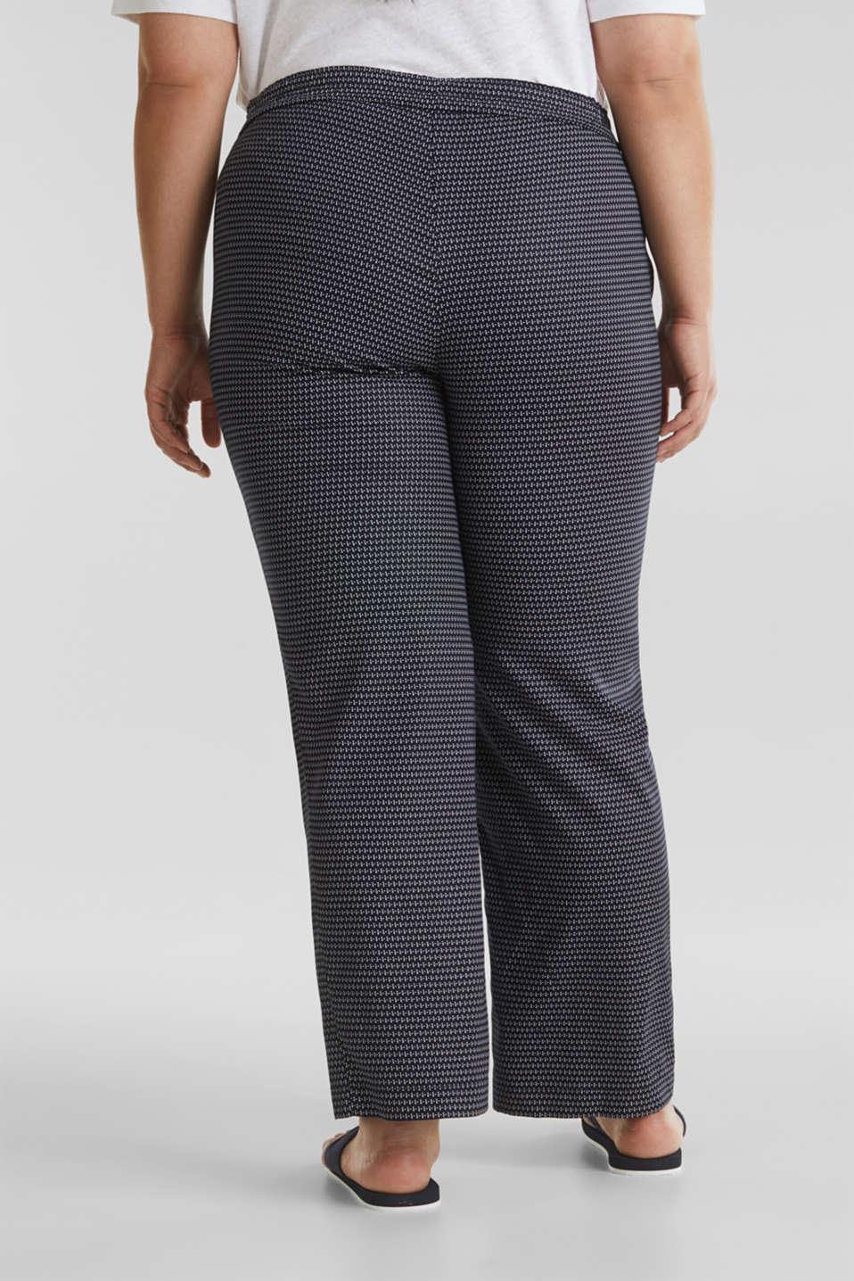 CURVY printed trousers in TENCEL™, NAVY 3, detail image number 3