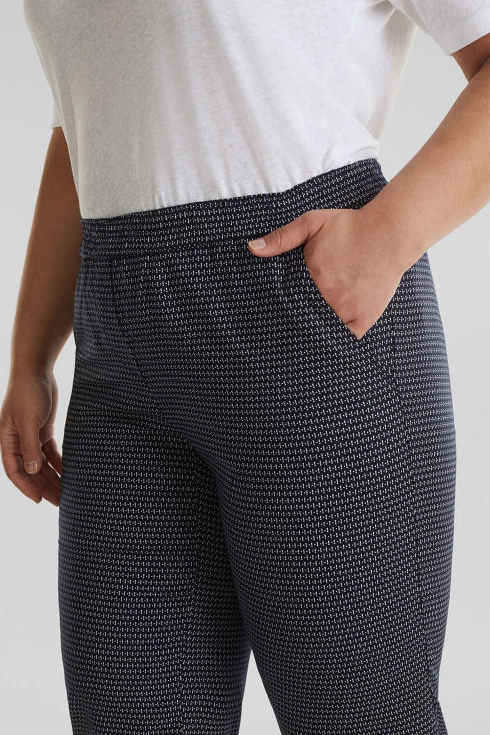 CURVY printed trousers in TENCEL™, NAVY 3, detail image number 2
