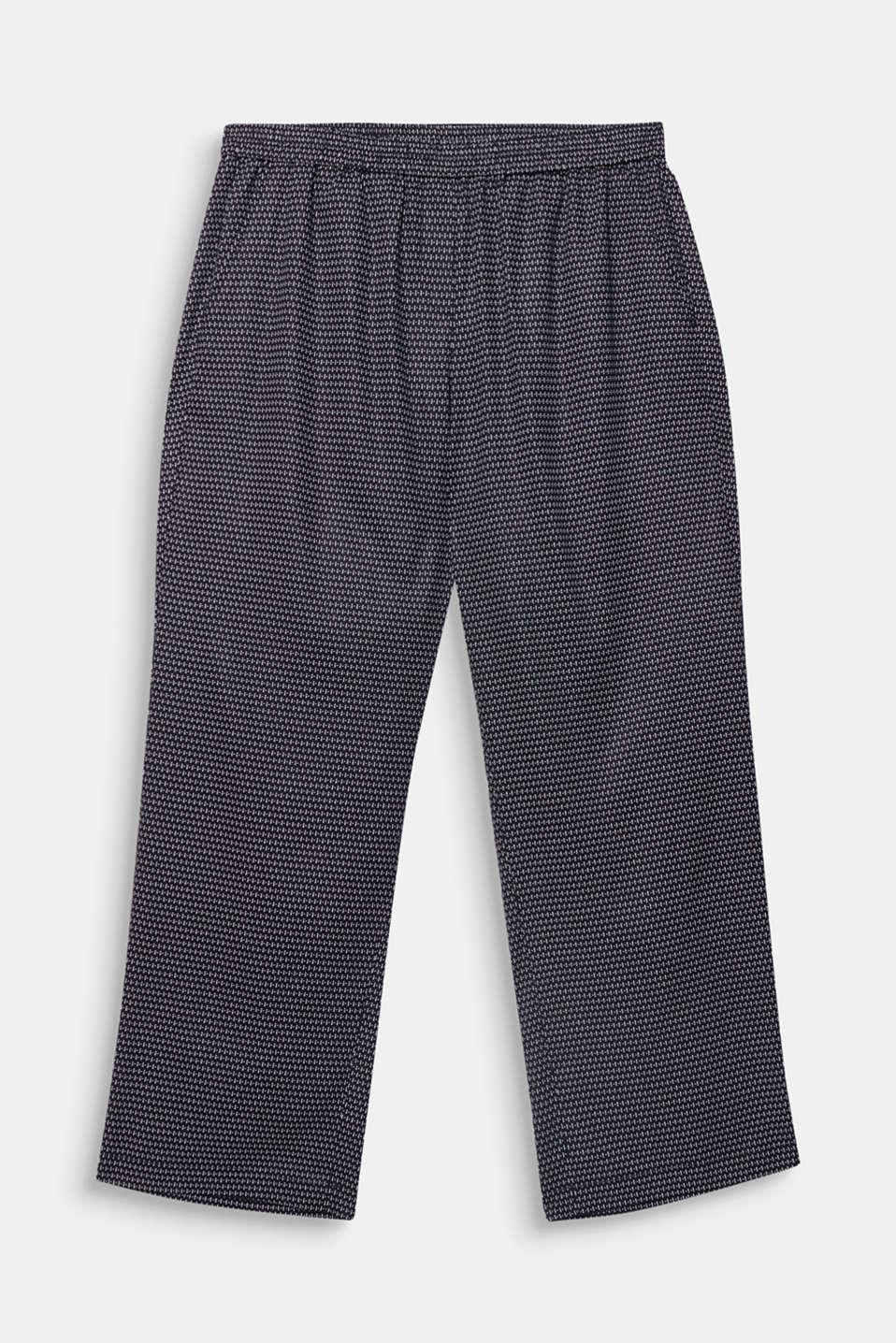 CURVY printed trousers in TENCEL™, NAVY 3, detail image number 5