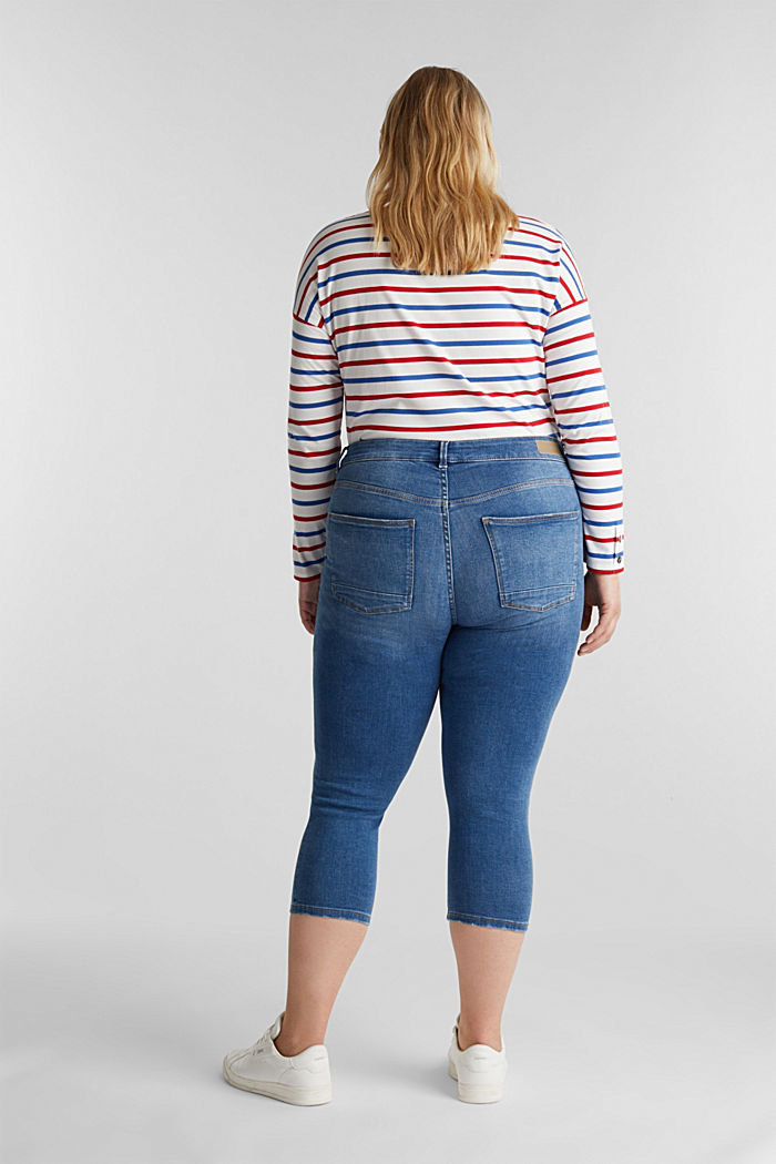 CURVY Capri-Stretch-Jeans, BLUE MEDIUM WASHED, detail image number 3