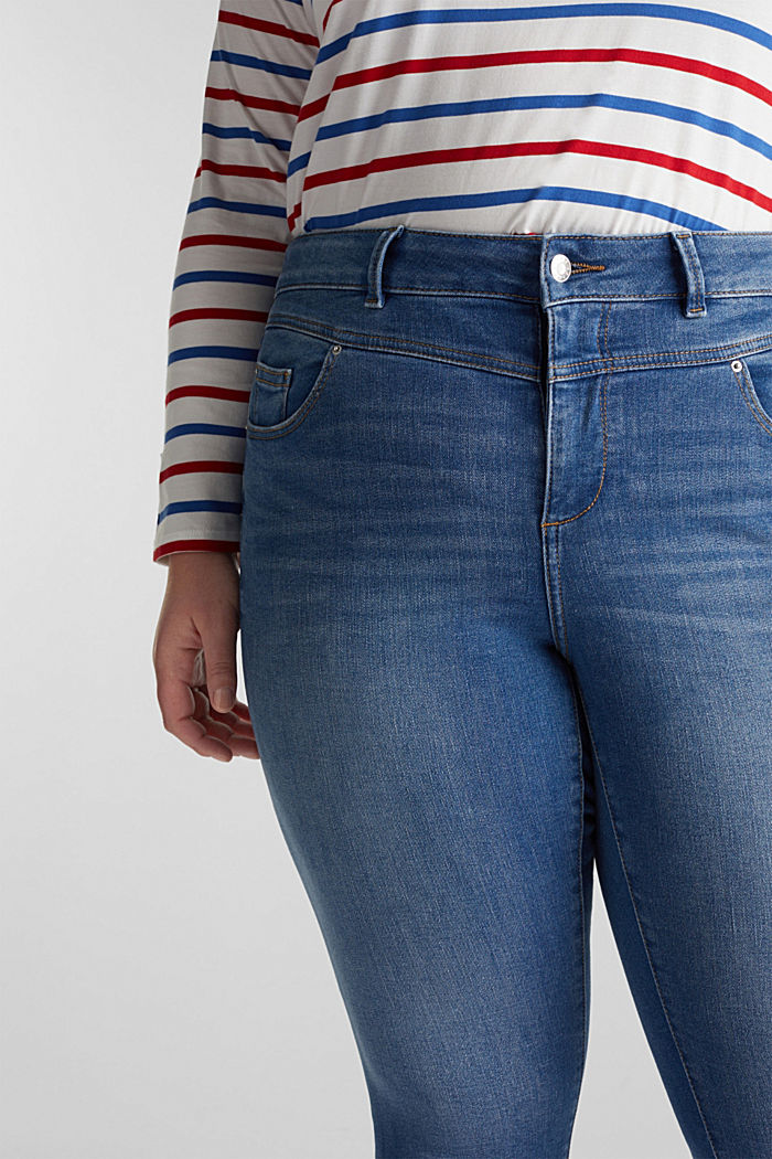 CURVY Capri-Stretch-Jeans, BLUE MEDIUM WASHED, detail image number 2