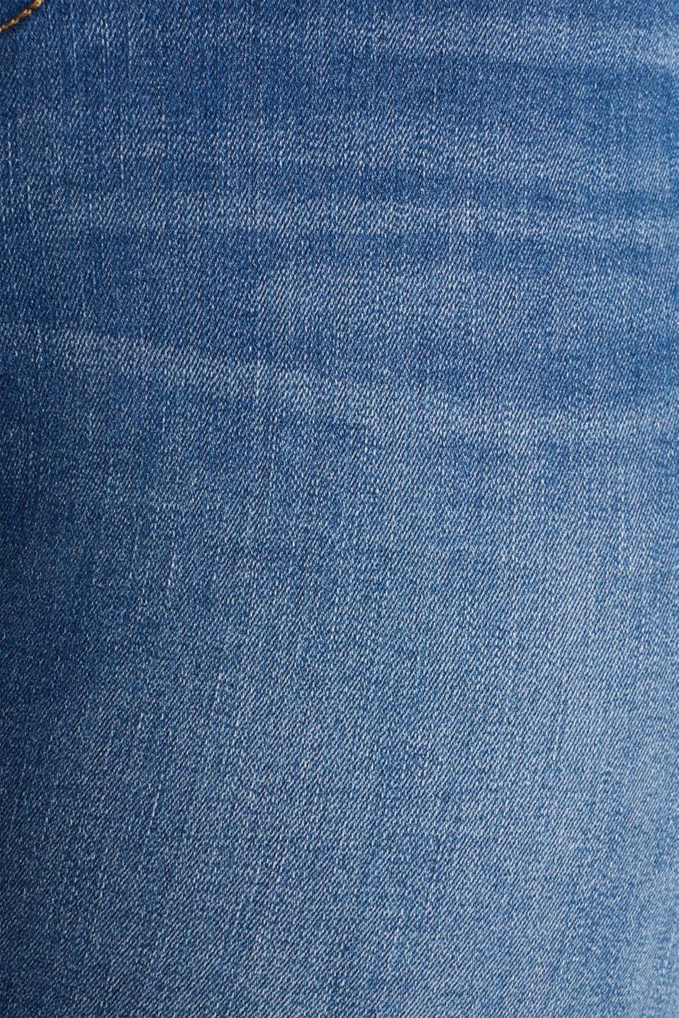 CURVY stretch capris jeans, BLUE MEDIUM WASH, detail image number 4