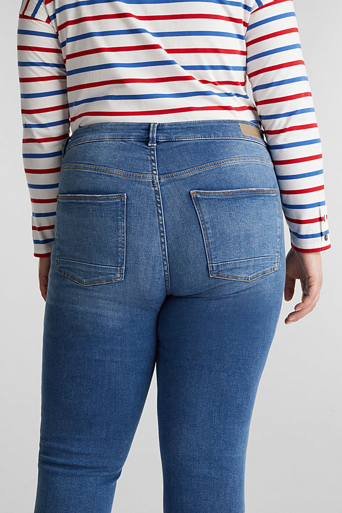 CURVY Capri-Stretch-Jeans, BLUE MEDIUM WASHED, detail image number 5