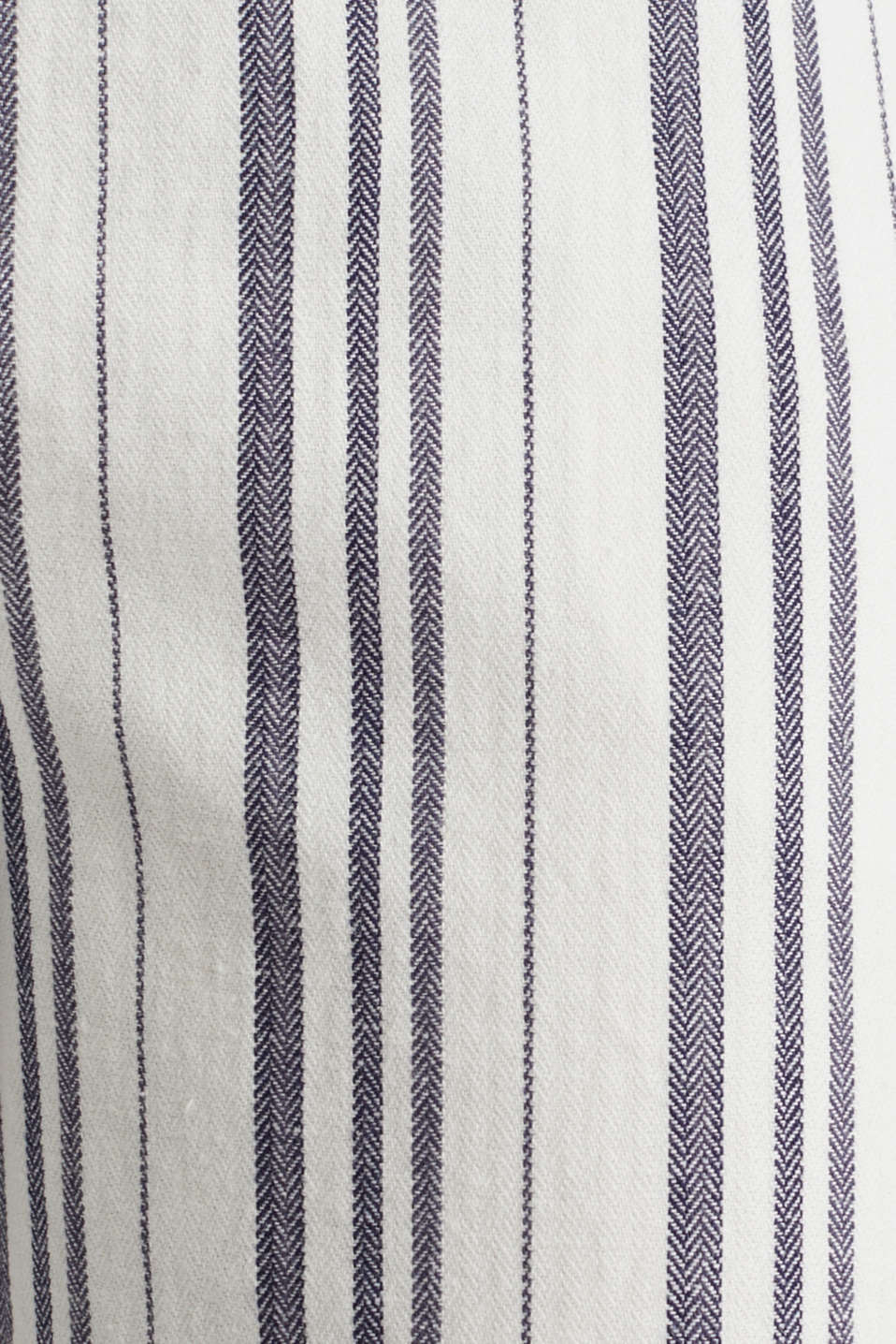With linen: striped culottes, OFF WHITE, detail image number 4
