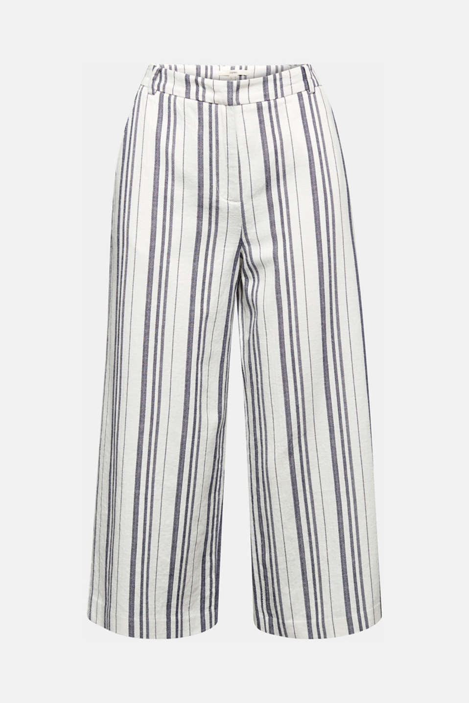 With linen: striped culottes, OFF WHITE, detail image number 7