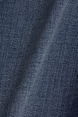 Stretch jeans with frayed hems, BLUE MEDIUM WASH, detail