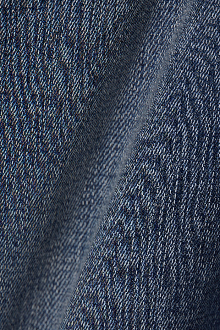 Stretch jeans with frayed hems, BLUE MEDIUM WASHED, detail image number 4