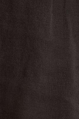 Made of linen: paperbag shorts, BLACK, detail