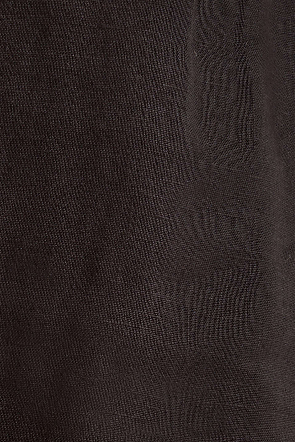 Made of linen: paperbag shorts, BLACK, detail image number 4