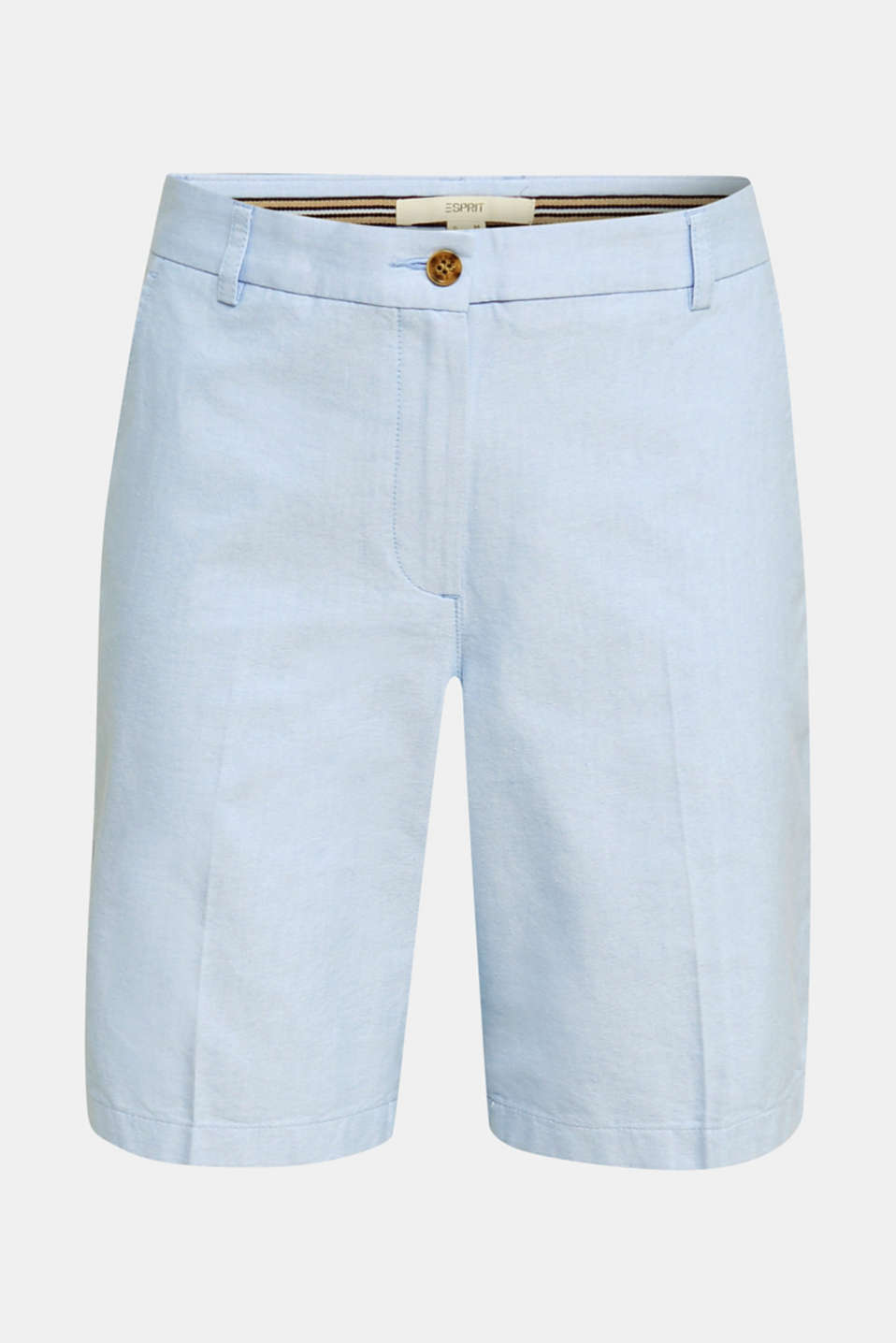 Chambray shorts made of 100% cotton, LIGHT BLUE, detail image number 6