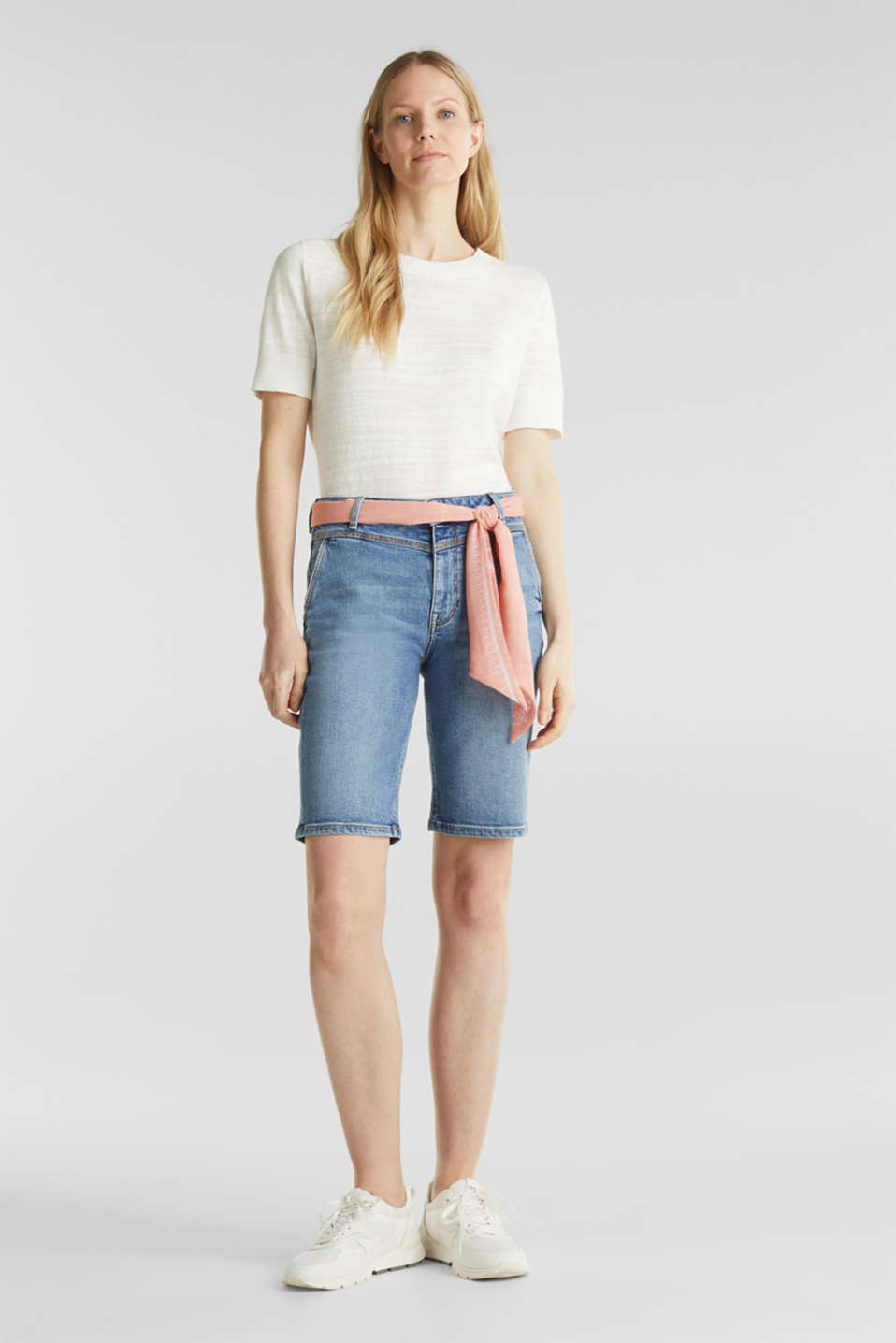 Esprit - Denim Bermudas with bandana