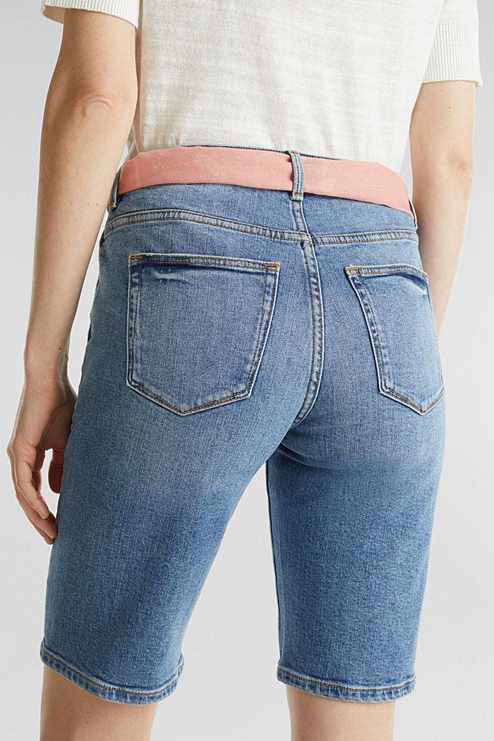 Jeans-Bermuda mit Bandana, BLUE MEDIUM WASHED, detail image number 5