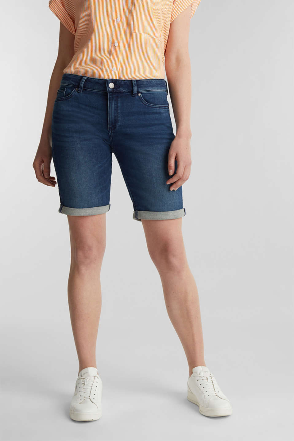Esprit - Shorts in morbido denim stile jogging