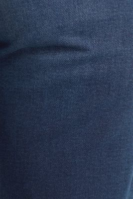 Shorts made of soft tracksuit denim, BLUE DARK WASH, detail