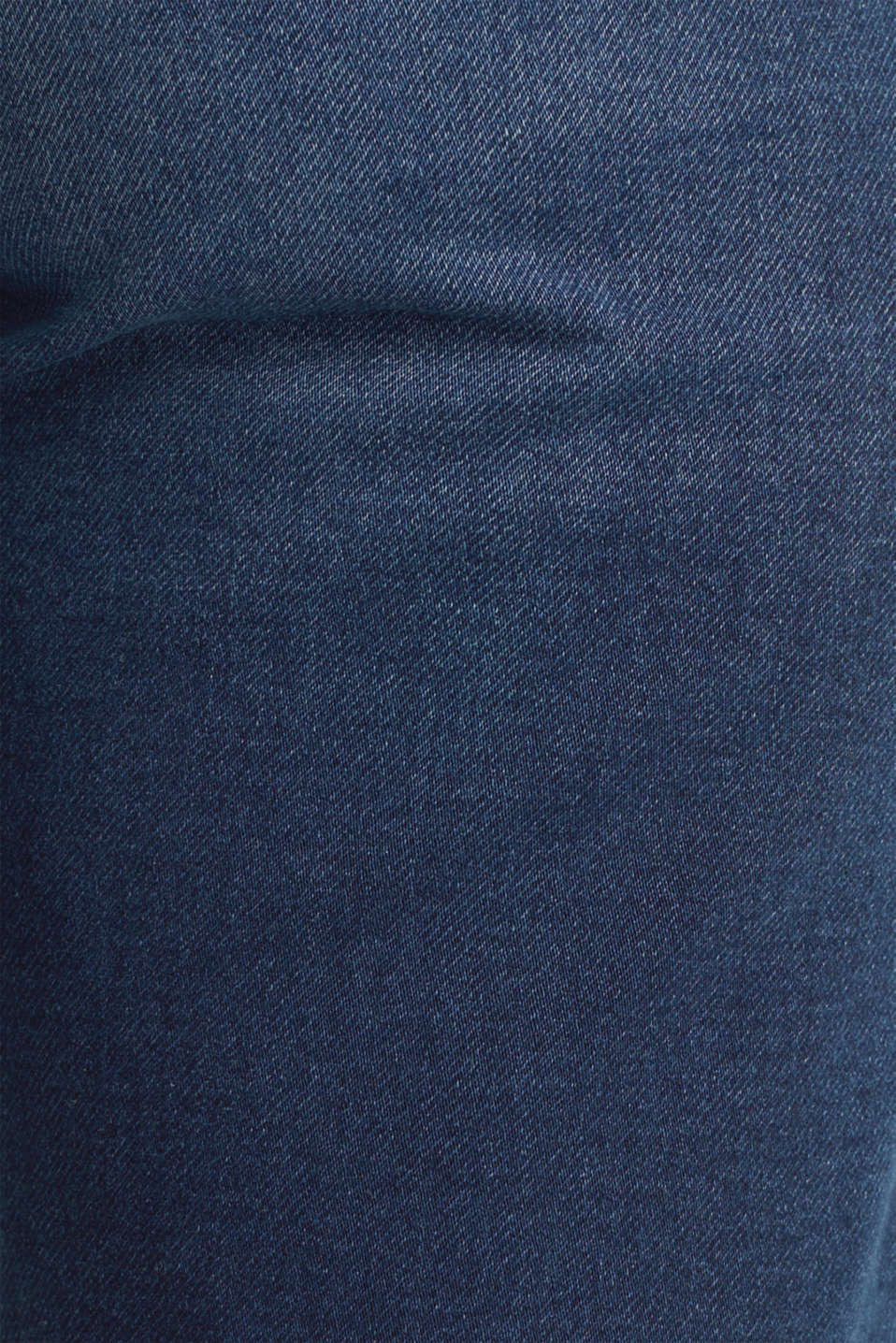Shorts made of soft tracksuit denim, BLUE DARK WASH, detail image number 4