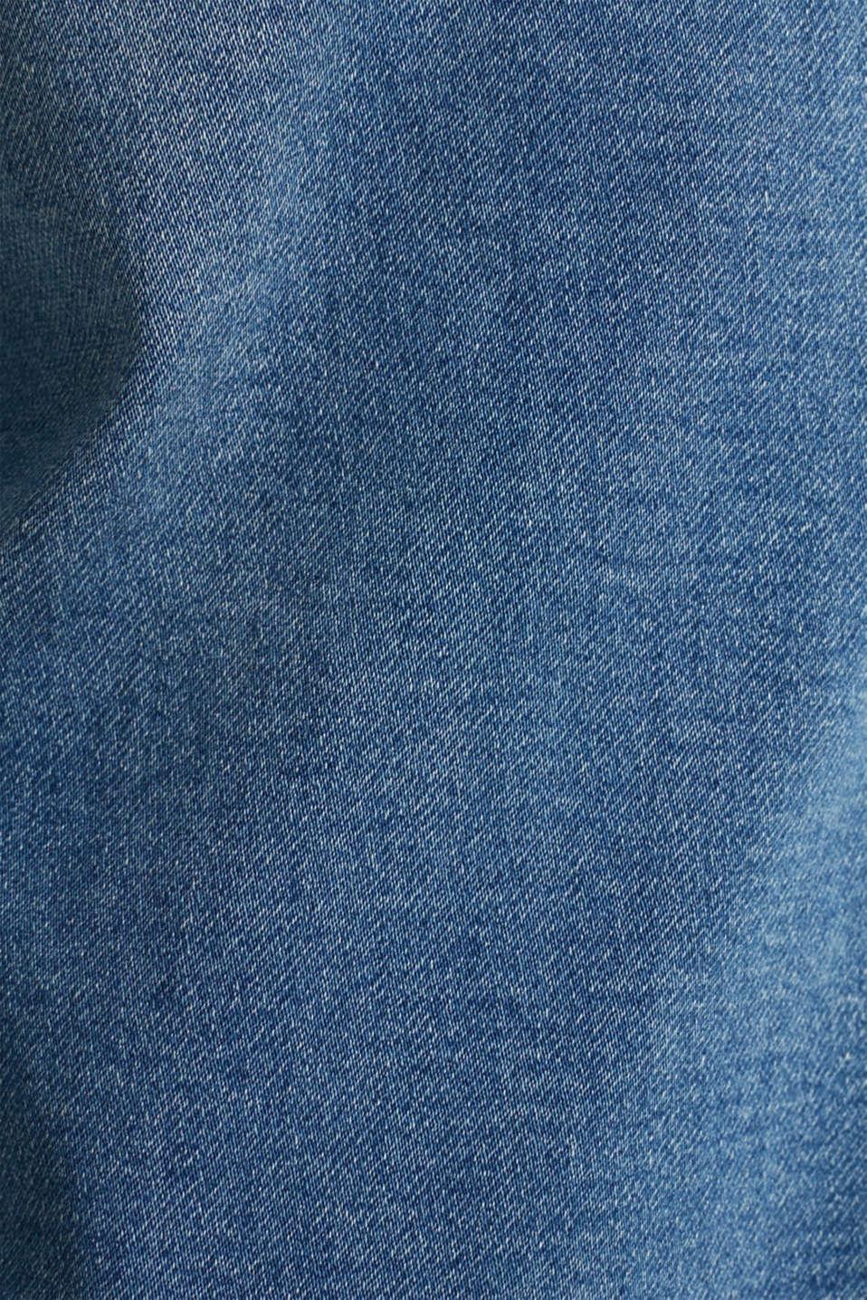 Shorts made of soft tracksuit denim, BLUE MEDIUM WASH, detail image number 3