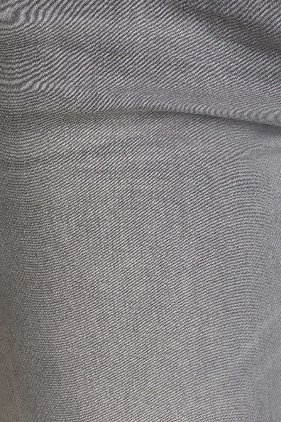 Bermuda shorts made of soft tracksuit fabric denim, GREY MEDIUM WASH, detail image number 4