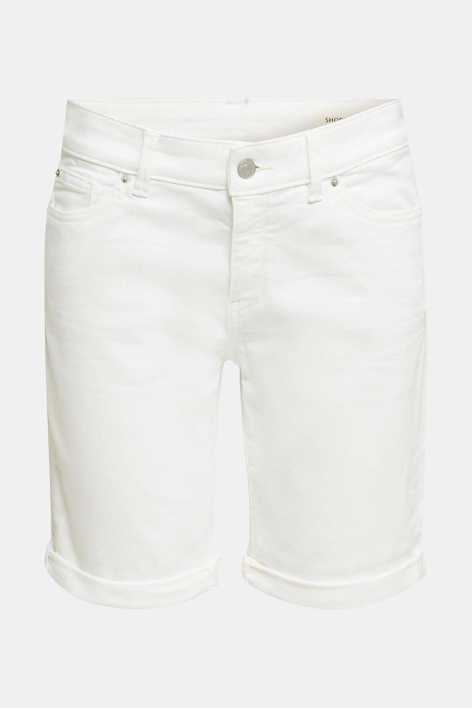Denim shorts with organic cotton, WHITE, detail image number 5