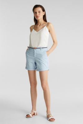 Cotton shorts with Lycra xtra life™, LIGHT BLUE, detail