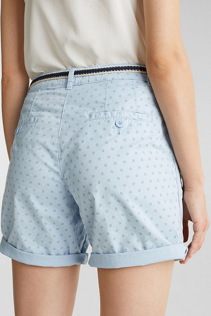 Cotton shorts with Lycra xtra life™, LIGHT BLUE, detail image number 2