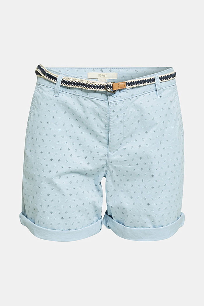 Cotton shorts with Lycra xtra life™, LIGHT BLUE, overview