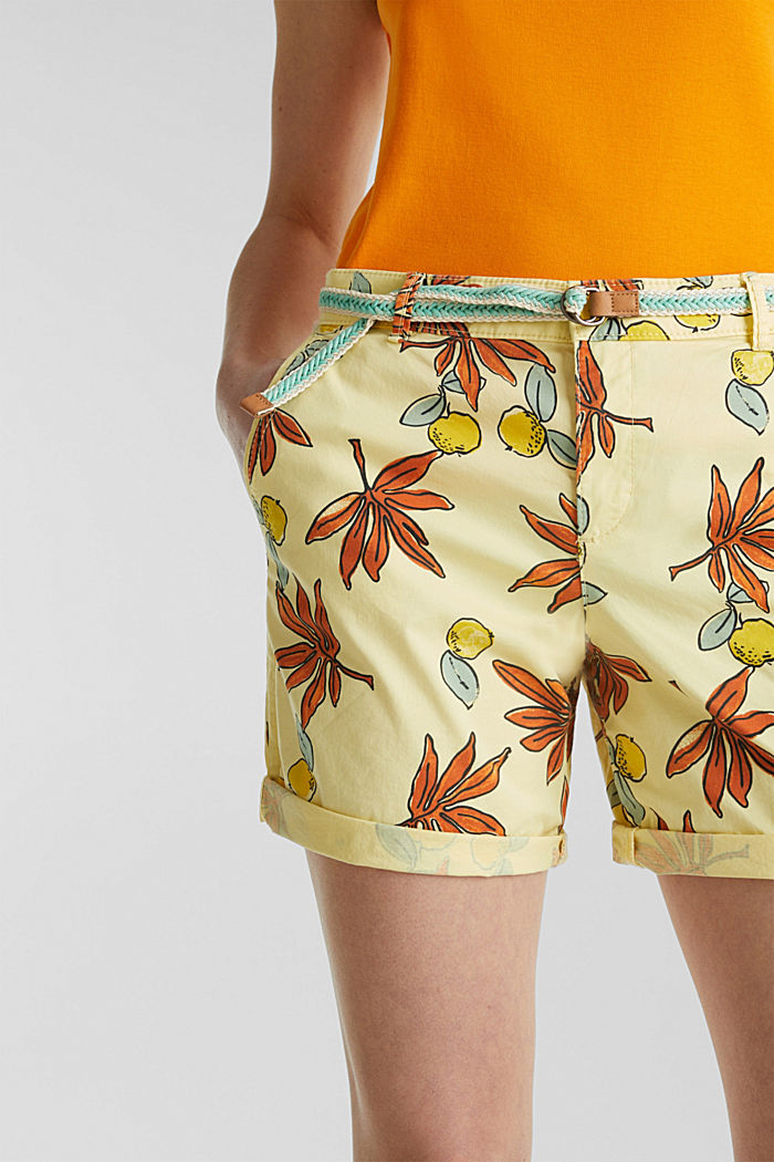 Baumwoll-Shorts mit Lycra xtra life™, BRIGHT YELLOW, detail image number 2