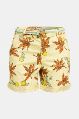 Cotton shorts with Lycra xtra life™, BRIGHT YELLOW, detail