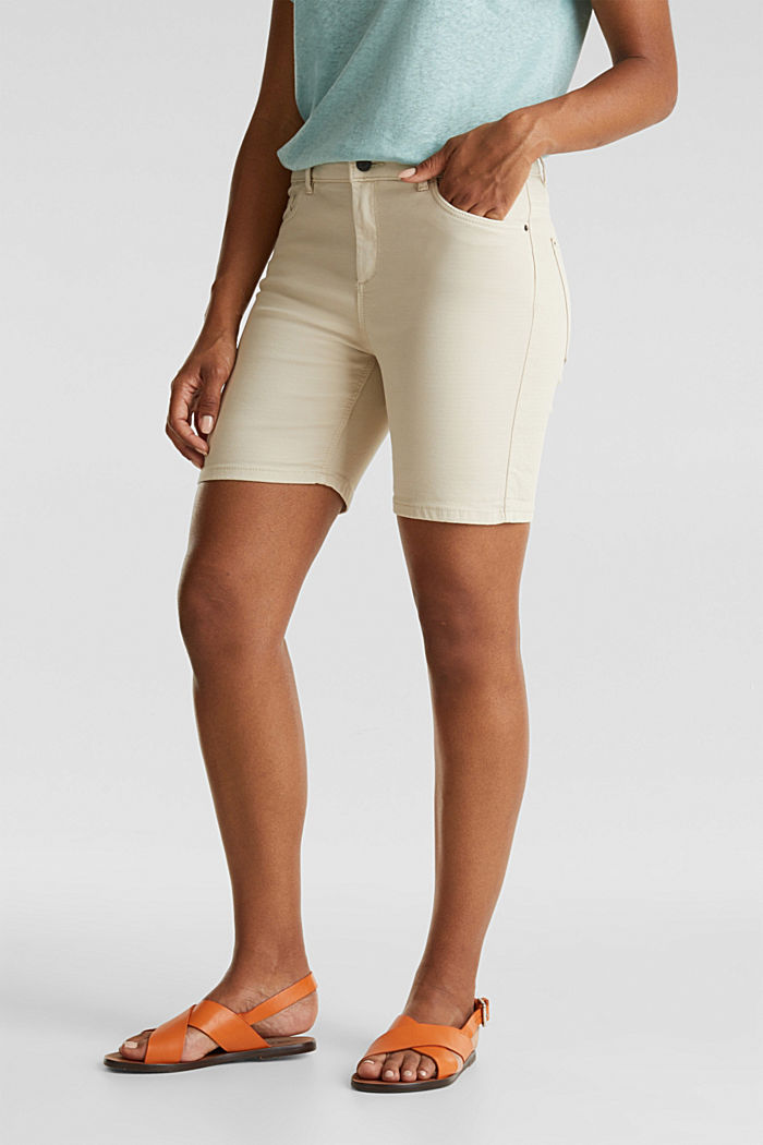 REPREVE Stretch-Shorts, recycelt, SAND, detail image number 0