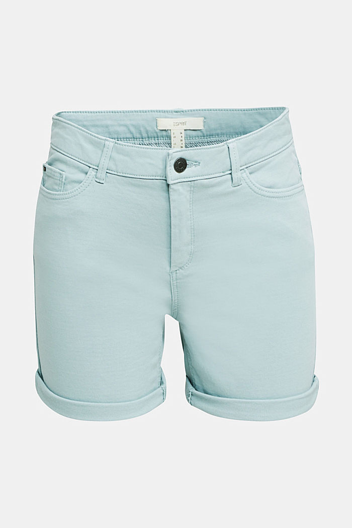 REPREVE® stretch shorts, recycled, LIGHT AQUA GREEN, detail image number 4