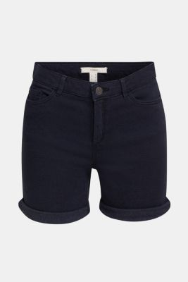 REPREVE® stretch shorts, recycled, NAVY, detail