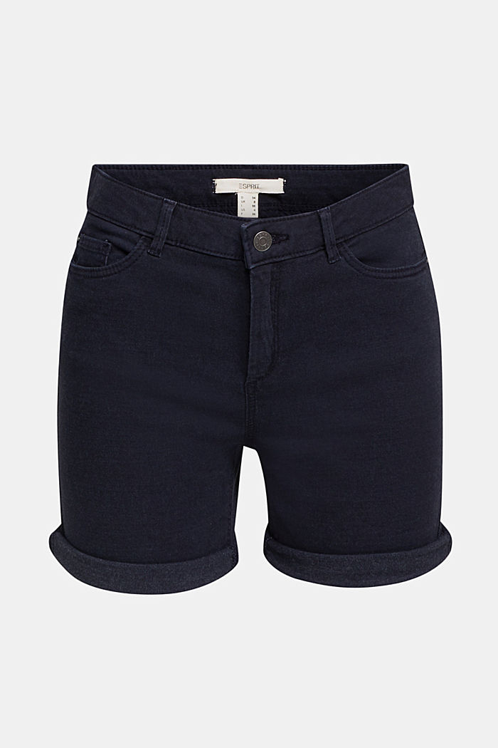 REPREVE Stretch-Shorts, recycelt, NAVY, overview