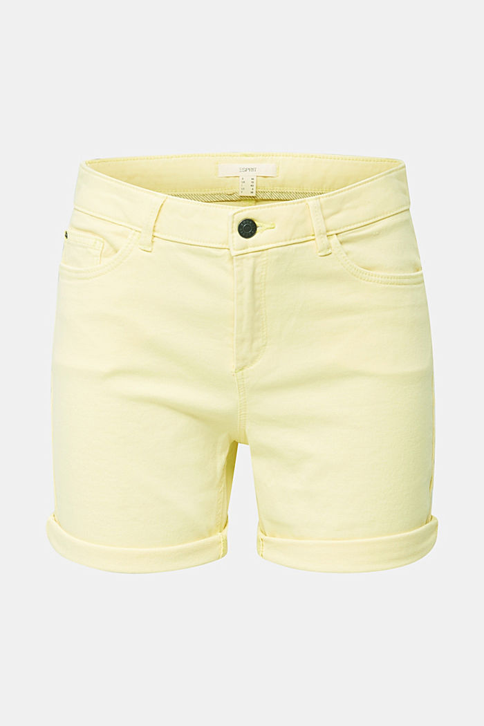 REPREVE® stretch shorts, recycled, LIME YELLOW, detail image number 3