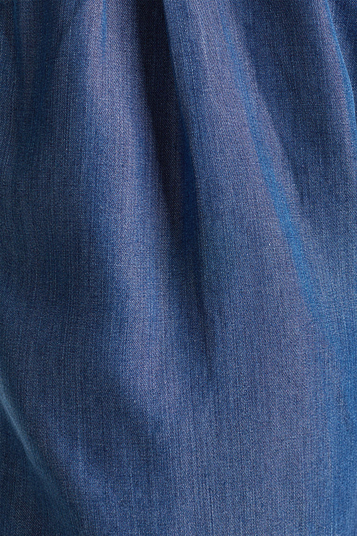 Made of TENCEL™: shorts in a denim look, BLUE DARK WASHED, detail image number 2