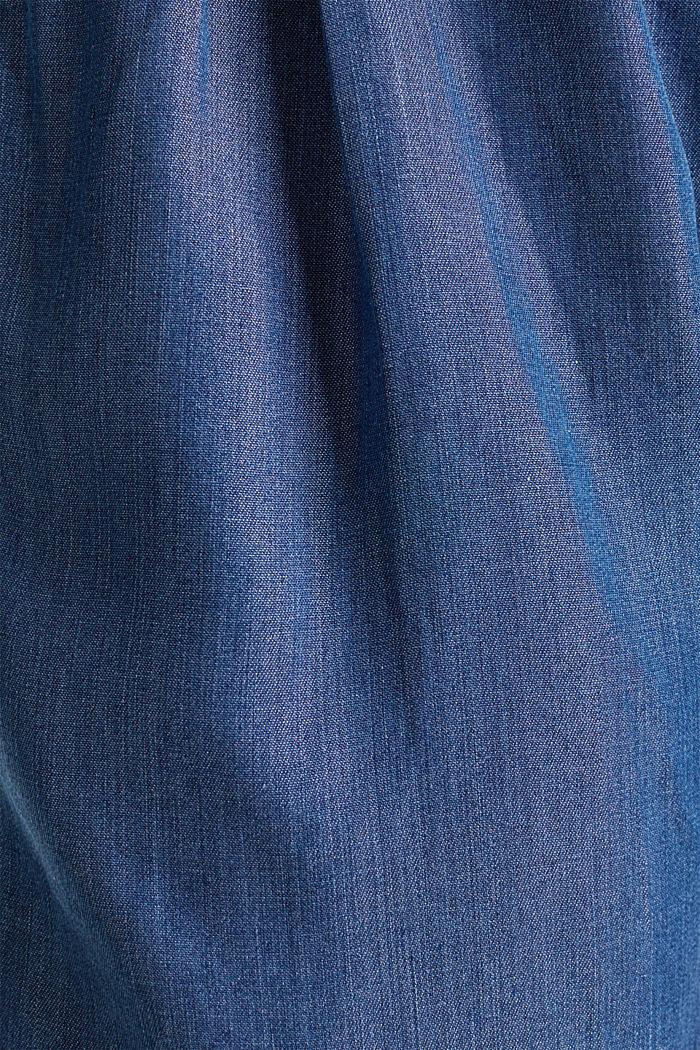 Aus TENCEL™: Shorts im Denim-Look, BLUE DARK WASHED, detail image number 2