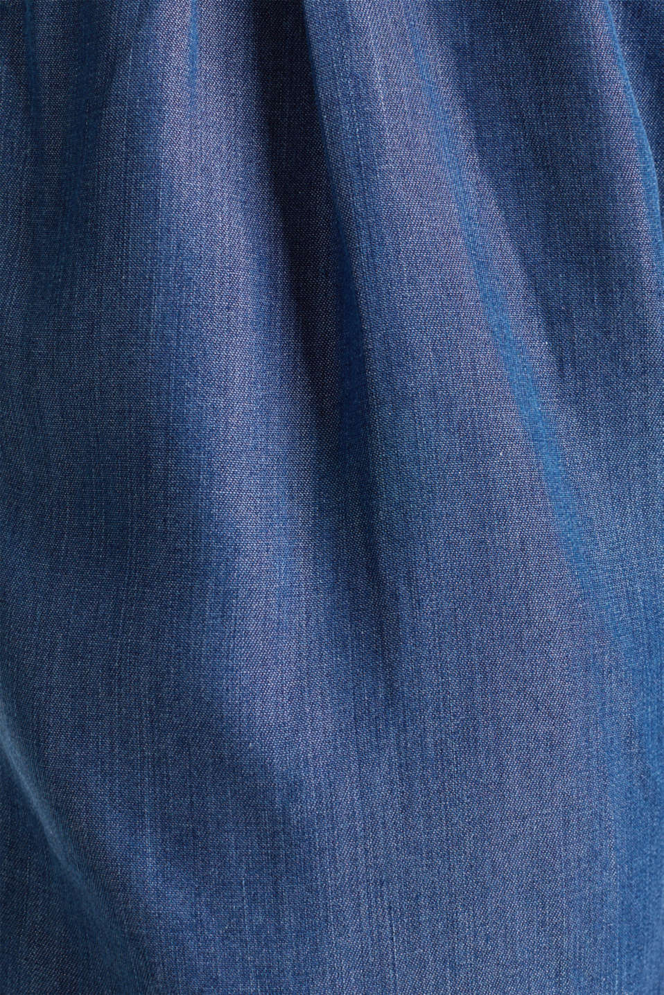 Made of TENCEL™: shorts in a denim look, BLUE DARK WASH, detail image number 2