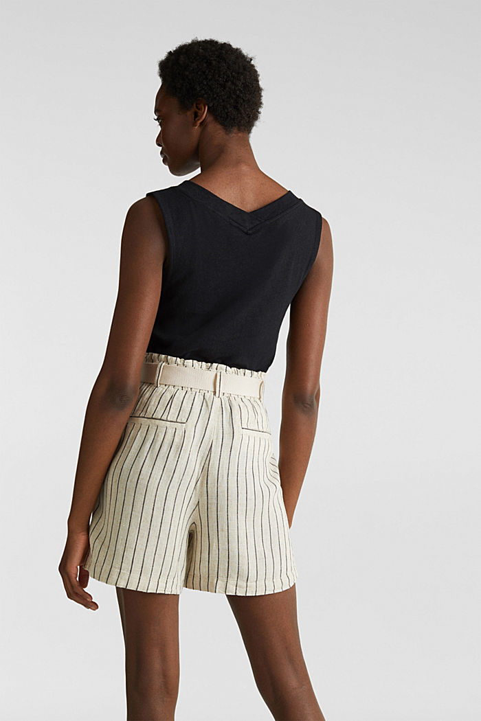 Linen blend: paperbag Bermuda shorts, SAND, detail image number 3