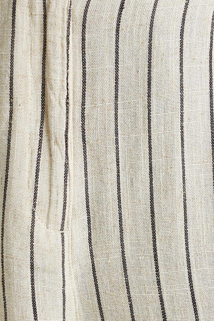 Linen blend: paperbag Bermuda shorts, SAND, detail image number 4