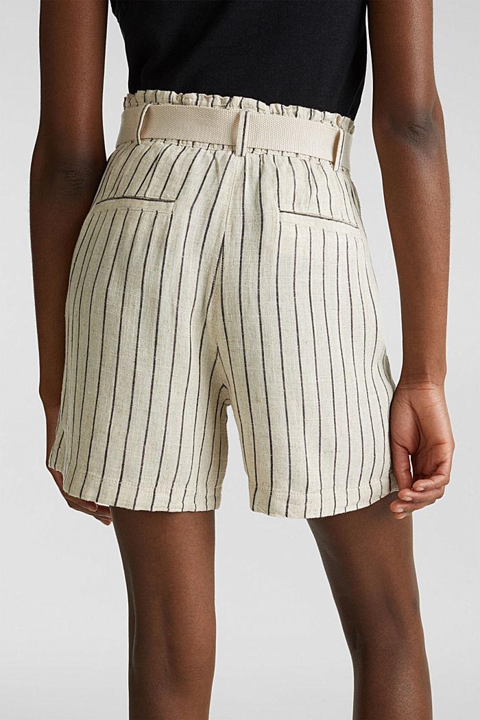 Linen blend: paperbag Bermuda shorts, SAND, detail image number 5